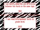 """Zebra Themed """"I Can"""" Statements for ALL 1st Grade CC Standards-Red Lettering"""