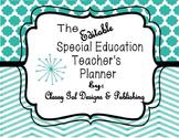Editable Special Education Teacher's Planner (Chevron Turquoise Plan book)