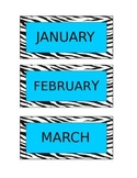 Zebra Themed Months of The Year