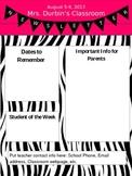 Zebra Themed Newsletter-EDITABLE :)