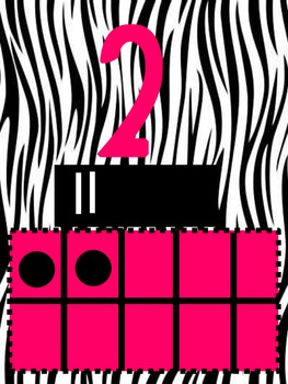 Zebra Themed Numbers 1-10 with 10 Frames & Tally Marks
