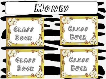 Zebra Themed PBIS Monetary Reward System