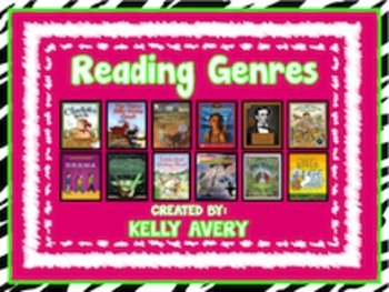 Zebra Themed Reading Genres