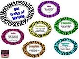 Zebra Themed Six Traits Posters