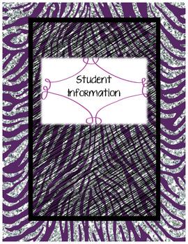 Zebra Themed Teacher Planner