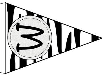 Zebra Themed Wild About Learning Classroom Banner Set