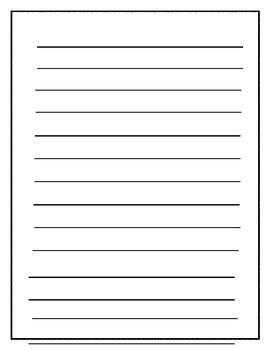 Zebra Themed Writing Paper