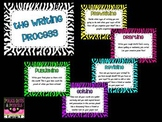 Zebra Themed Writing Process Posters