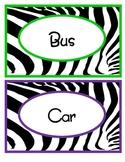 Zebra Transportation Labels