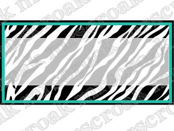 labels zebra turquoise 30 per page by mrscroak tpt