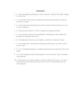 Zebra Vocabulary Quiz Worksheet