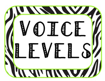 Zebra Voice Levels
