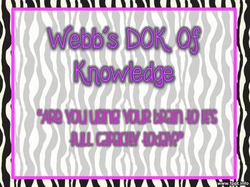 Zebra Webb's DOK Posters