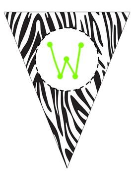 Zebra Welcome Pennant
