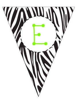 Zebra Welcome Pennant