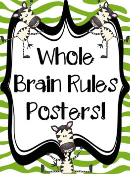 Zebra Whole Brain Rules Posters