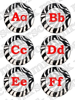 Word Wall Headers: Zebra print with red font