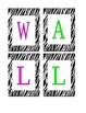 Zebra Word Wall Banner