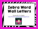 Zebra Word Wall Letters
