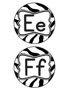 Zebra Alphabet Letters