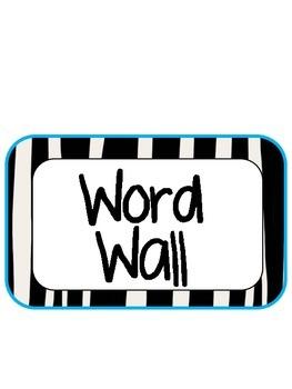 Zebra Word Wall Pack