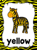 Zebra/Zoo Color Word Posters