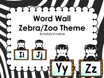 Zebra/Zoo Word Wall