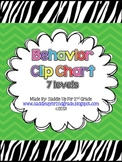 Zebra and Chevron Behavior Clip Chart FREEBIE