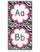 Zebra and Flower Themed Word Wall Letters