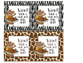 Zebra and Giraffe Safari Classroom Decor Sets COMBO PACK