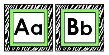 Zebra Theme Classroom Decor Word Wall Letters