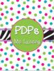 Zebra and Polka Dots - Binder Covers
