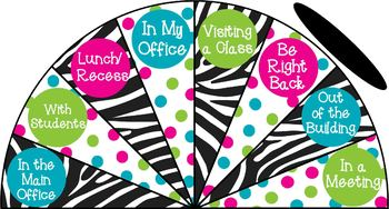 Zebra and Polka Dots - Where is the counselor? sign - variation #1