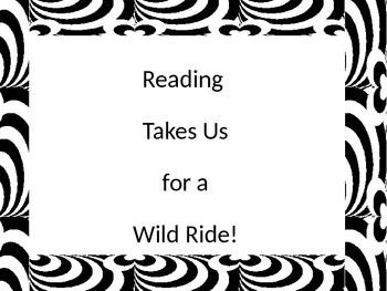 Zebra border classroom posters