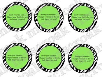 Bulletin Board Headers Savings Package: Zebra with bold colors variety pack