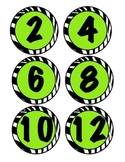 Zebra number labels
