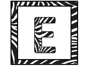 Zebra print READ or READING banner for door or wall