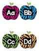 Zebra print Word Wall Letters