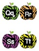 Zebra print Word Wall Letters English and Spanish
