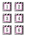 Zebra print calendar