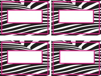 Zebra print labels