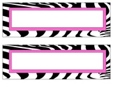 Zebra print with pink accent word strips
