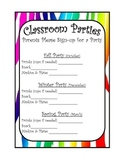 Zebra sign up party sheets