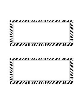 Zebra stripe desk tags