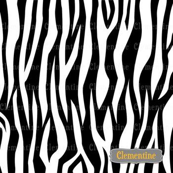 Zebra stripe digital papers