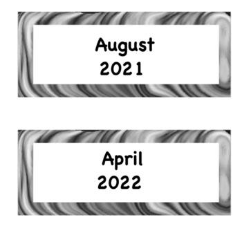 Zebra theme classroom pack