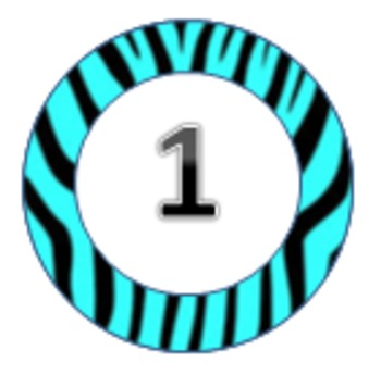Zebra themed circles 1-31