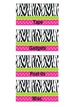 Zebra toolbox labels