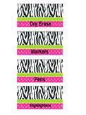 Zebra toolbox labels