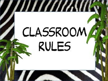 Zebra/Jungle class rules set